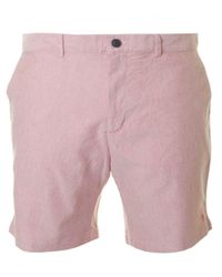 Farah | Pink Bristow Oxford Shorts for Men | Lyst
