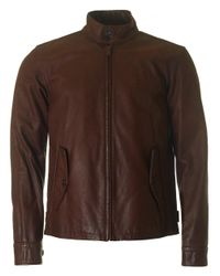 Polo Ralph Lauren | Brown Barracuda Lined Leather Jacket for Men | Lyst