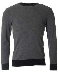 Michael Kors   Black Cotton Jaquard Crew Neck Knit for Men   Lyst