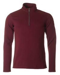 Armani Jeans | Red Quarter Zip Sweat for Men | Lyst
