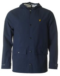 Lyle & Scott - Blue Hooded Raincoat for Men - Lyst