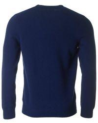 Lyle & Scott - Blue Crew Neck Lambswool Knit for Men - Lyst