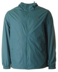 Farah - Green Smith Zip Through Hooded Jacket for Men - Lyst