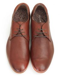 Paolo Vandini - Brown Round Toe Leather Shoes for Men - Lyst