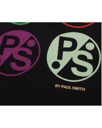 Paul Smith | Black Multi Logo Short Sleeved Crew for Men | Lyst