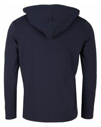 BOSS by Hugo Boss - Blue Mix And Match Hooded Sweat for Men - Lyst