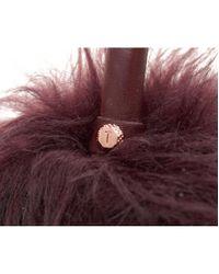 Ted Baker - Purple Fluffy Ear Muffs - Lyst
