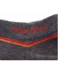 BOSS - Gray Two Pack Of Sneaker Logo Socks for Men - Lyst