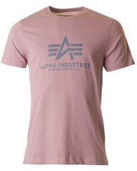 Alpha Industries - Metallic Basic Crew Neck for Men - Lyst