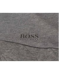 BOSS Athleisure - Gray Spartech Reflective Print Hooded Sweat for Men - Lyst