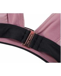 Ted Baker - Pink Low V Tuck Bikini Top - Lyst