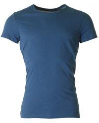 J.Lindeberg Blue Cody Short Sleeved Crew Neck for men