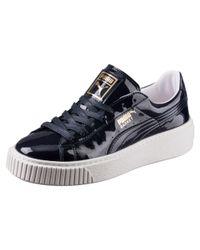 PUMA | Multicolor Basket Platform Patent Women's Sneakers | Lyst