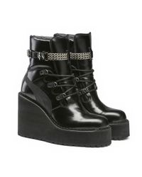 PUMA - Black Sneaker Boot Wedge - Lyst