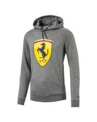 PUMA - Gray Ferrari Men's Big Shield Hoodie for Men - Lyst