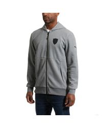 PUMA - Gray Ferrari Men's Full Zip Hoodie for Men - Lyst