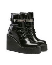 PUMA   Black Sneaker Boot Wedge   Lyst