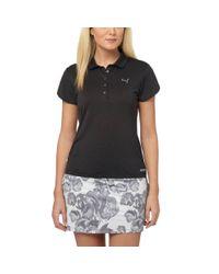 PUMA - Black Petal Golf Polo Shirt - Lyst