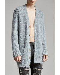 R13 | Blue Grandpa Cardigan for Men | Lyst