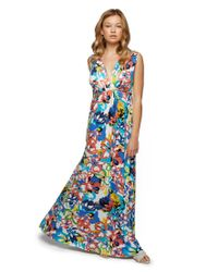 Rachel Pally - Blue Long Sleeveless Caftan Print - Flores - Lyst