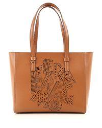 Ferragamo - Brown Handbags - Lyst