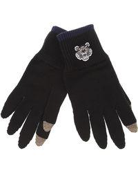 bcfaf62d833e Lyst - Gants noirs Tiger Crest Kenzo pour homme en coloris Noir