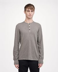 Rag & Bone - Green Classic Henley for Men - Lyst