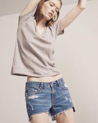 Rag & Bone | Gray Cut Off Jean Short | Lyst