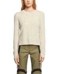 Rag & Bone | Gray Valentina Cashmere Crop Sweater | Lyst