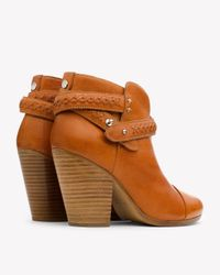 Rag & Bone - Brown Harrow Leather Ankle Boots - Lyst