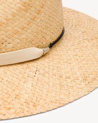 Rag & Bone - Natural Raffia Wide Brim Hat - Lyst