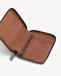 Rag & Bone - Brown Small Zip Around Wallet - Lyst