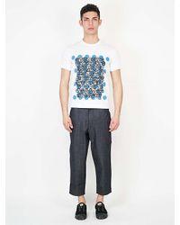 Comme des Garçons   Blue Printed T-shirt for Men   Lyst