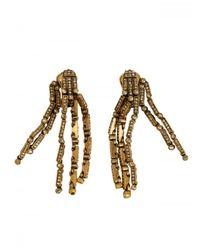 Oscar de la Renta | Metallic Drop Earrings | Lyst