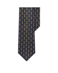 Polo Ralph Lauren - Blue Rugby Bear Silk Narrow Tie for Men - Lyst