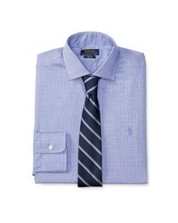 Polo Ralph Lauren | Blue Slim Glen Plaid Dress Shirt for Men | Lyst