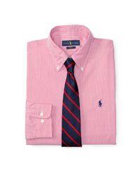 Polo Ralph Lauren | Pink Slim-fit Poplin Dress Shirt for Men | Lyst