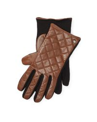 Pink Pony | Multicolor Quilted Leather Tech Gloves | Lyst