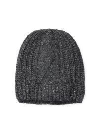 819907170 Polo Ralph Lauren Aran-knit Merino-blend Hat in Gray for Men - Lyst