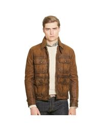 Polo Ralph Lauren   Brown Leather Utility Jacket for Men   Lyst
