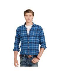 Polo Ralph Lauren | Blue Indigo Plaid Twill Workshirt for Men | Lyst