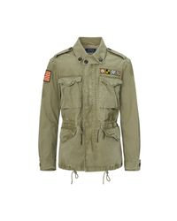Polo Ralph Lauren | Green Cotton Canvas Military Jacket for Men | Lyst