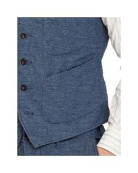 RRL | Blue Slim Indigo Cotton Twill Vest for Men | Lyst