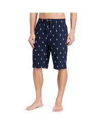Polo Ralph Lauren | Blue Allover Pony Pajama Short for Men | Lyst