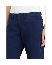 Polo Ralph Lauren | Blue Cotton Boyfriend Pant | Lyst