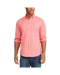 Polo Ralph Lauren - Pink Standard Fit Cotton Shirt for Men - Lyst