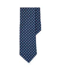 Polo Ralph Lauren - Blue Neat Silk Shantung Narrow Tie for Men - Lyst