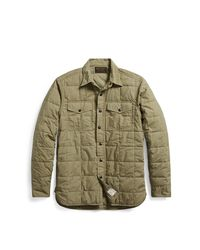 RRL - Green Quilted Cotton Shirt Jacket for Men - Lyst
