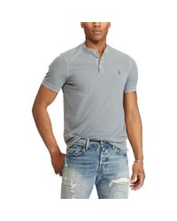 Pink Pony - Gray Featherweight Mesh Henley for Men - Lyst