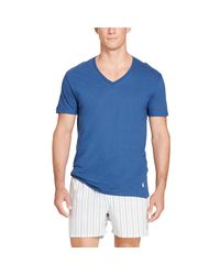 Polo Ralph Lauren - Blue Classic V-neck 3-pack for Men - Lyst